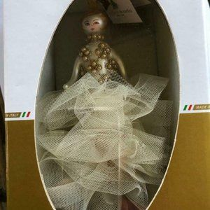 De Carlini Allyson Toule Gown Christmas Ornament